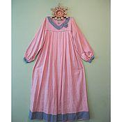 Одежда ручной работы. Ярмарка Мастеров - ручная работа Платье изо льна в пол. Handmade.
