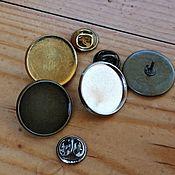 Материалы для творчества handmade. Livemaster - original item Brooch badge, the basis of Art.OBR31. Handmade.