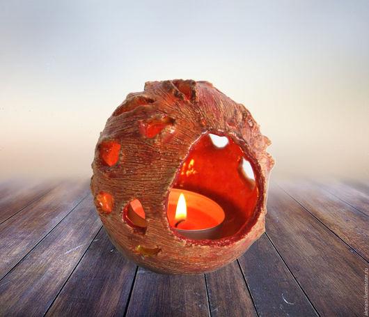 """Подсвечники ручной работы. Ярмарка Мастеров - ручная работа. Купить Подсвечник """"Маленький очаг"""". Handmade. Комбинированный, огонь, интерьерный подарок"""