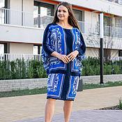 Одежда handmade. Livemaster - original item Viscose oversize tunic dress in blue. Handmade.