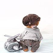 Куклы и игрушки ручной работы. Ярмарка Мастеров - ручная работа Ден, мишка тедди 16см, вискоза. Handmade.