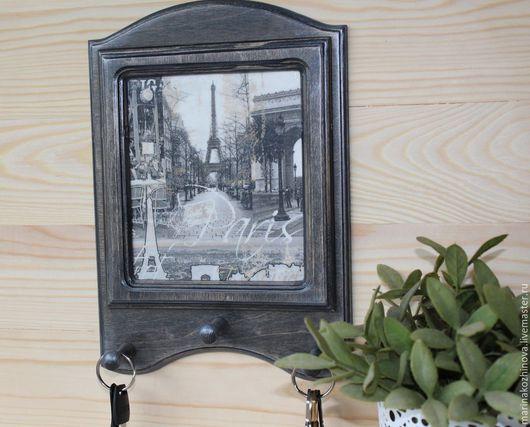 """Прихожая ручной работы. Ярмарка Мастеров - ручная работа. Купить Ключница """"Окно в Париж"""". Ключница,ключница декупаж.. Handmade."""