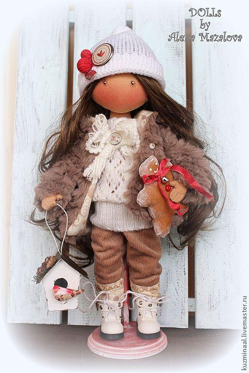 Человечки ручной работы. Ярмарка Мастеров - ручная работа. Купить Текстильная кукла VENDY. Handmade. Текстильная кукла, зима