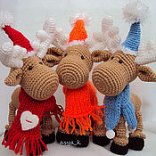 Куклы и игрушки ручной работы. Ярмарка Мастеров - ручная работа Новогодние олени. Handmade.