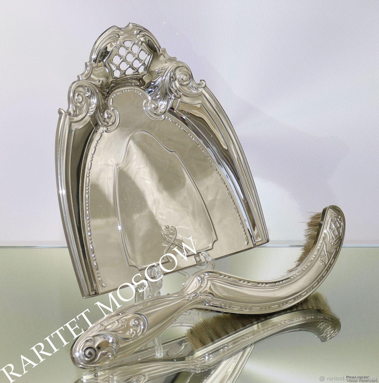 Винтажная посуда. Ярмарка Мастеров - ручная работа. Купить Винтаж: Совок щетка латунь серебрение Франция 2. Handmade. Серебро