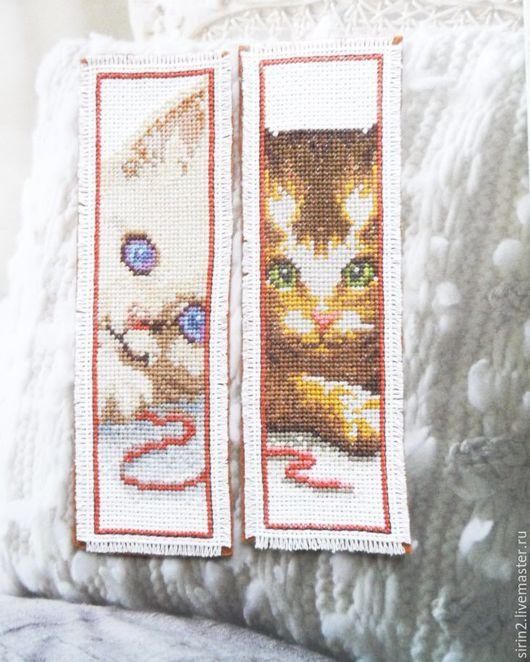 Закладки для книг ручной работы. Ярмарка Мастеров - ручная работа. Купить Глаза котенка Закладка для книг с милыми котиками в подарок ребенку. Handmade.