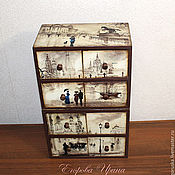 Для дома и интерьера handmade. Livemaster - original item Mini chest of drawers Romantic rain. Handmade.