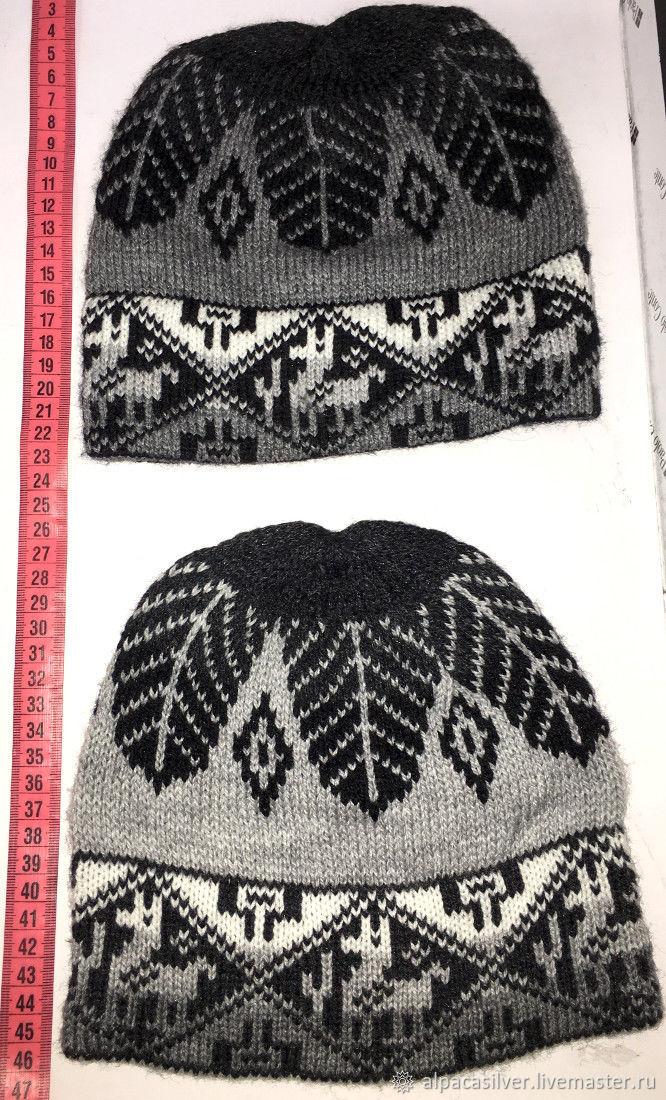 Мужская шапка из шерсти перуанской ламы - альпаки, Шапки, Геленджик,  Фото №1