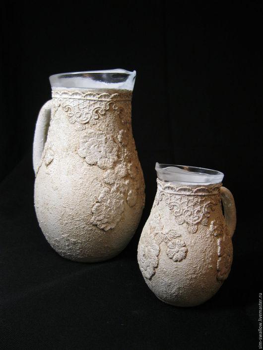 Кувшины в стиле имитации керамики с барельефом 2 шт.