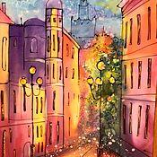 Картины и панно ручной работы. Ярмарка Мастеров - ручная работа Арбатские улочки... Handmade.