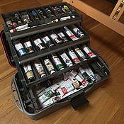 Материалы для творчества handmade. Livemaster - original item Suitcase for paints, brushes, art supplies, hobby. Handmade.