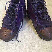 Ботинки ручной работы. Ярмарка Мастеров - ручная работа Фиолетовые кожаные полуботинки и туфли ручной работы. Handmade.