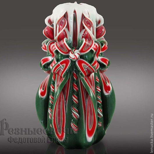 Свеча резная ручной работы `Бабочка`