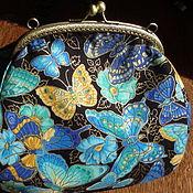 """Сумки и аксессуары ручной работы. Ярмарка Мастеров - ручная работа """"Butterfly"""" косметичка большая. Handmade."""