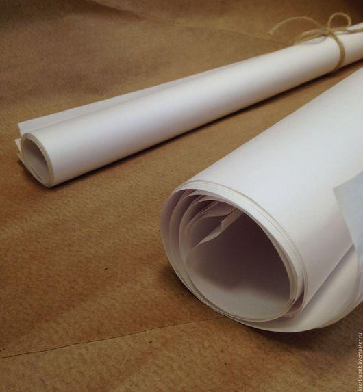 Упаковка ручной работы. Ярмарка Мастеров - ручная работа. Купить Крафтбумага беленая для упаковки 60х52 5л. Handmade. Белый, целлюлоза