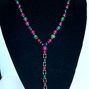 Украшения handmade. Livemaster - original item Necklace made of natural stones of tourmaline and hematite