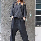 Одежда handmade. Livemaster - original item Women`s linen suit, blouse and trousers - SE0686LE. Handmade.