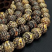 Материалы для творчества handmade. Livemaster - original item Beads Carved Buffalo Bone Eagle 17mm. Handmade.