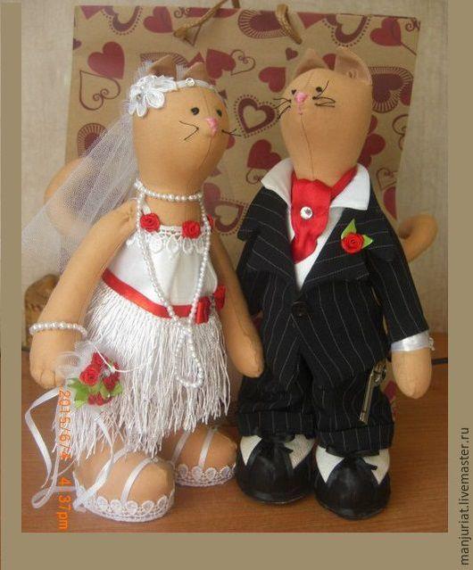 Коллекционные куклы ручной работы. Ярмарка Мастеров - ручная работа. Купить Свадебная пара животных,интерьерные куклы и игрушки. Handmade.