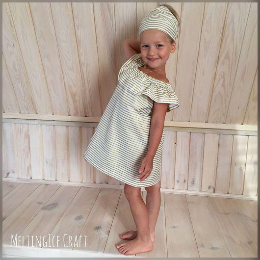 Платье с воланом на плечах своими руками для девочки