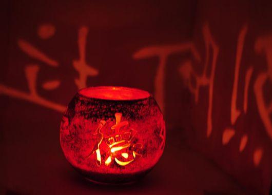 """Подсвечники ручной работы. Ярмарка Мастеров - ручная работа. Купить Подсвечник """"Китайские мотивы"""". Handmade. Подарок, восточный стиль, стекло"""