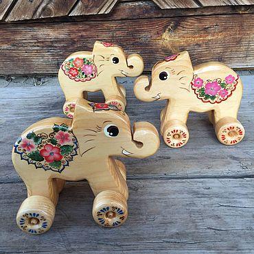 Куклы и игрушки ручной работы. Ярмарка Мастеров - ручная работа Слон Деревянные игрушки. Handmade.