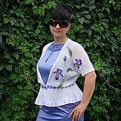 """Одежда ручной работы. Ярмарка Мастеров - ручная работа летняя кофта """"ирисы"""". Handmade."""