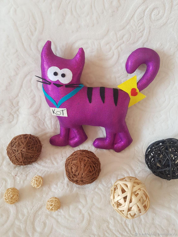 Розовый кот, Мягкие игрушки, Москва,  Фото №1