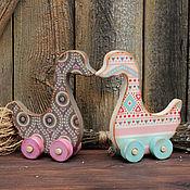 Куклы и игрушки ручной работы. Ярмарка Мастеров - ручная работа Два веселых гуся. Handmade.