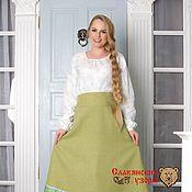 Одежда handmade. Livemaster - original item Skirt wool light green. Handmade.