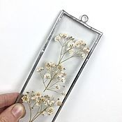 Suspension handmade. Livemaster - original item Miniature herbarium in glass. Handmade.