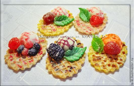 """Мыло ручной работы. Ярмарка Мастеров - ручная работа. Купить Мыло """"Вафелька с ягодами и мороженым"""". Handmade. Вафли, сладости"""