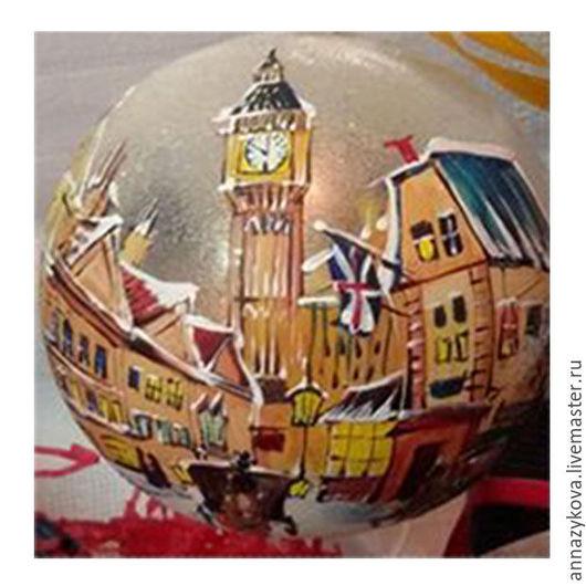 """Новый год 2017 ручной работы. Ярмарка Мастеров - ручная работа. Купить """"Старинный Лондон"""". Handmade. Рыжий, елочные игрушки"""