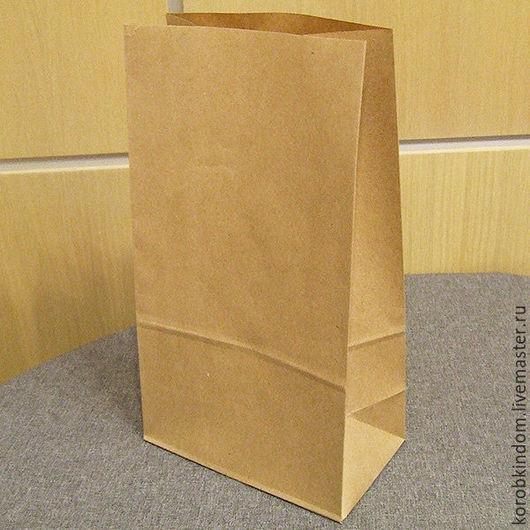 Упаковка ручной работы. Ярмарка Мастеров - ручная работа. Купить Пакет 17х30х10 ламинированный крафт коричневый без ручек. Handmade.