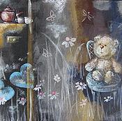 """Картины и панно ручной работы. Ярмарка Мастеров - ручная работа Картина """"Сон плюшевого медвежонка"""". Handmade."""