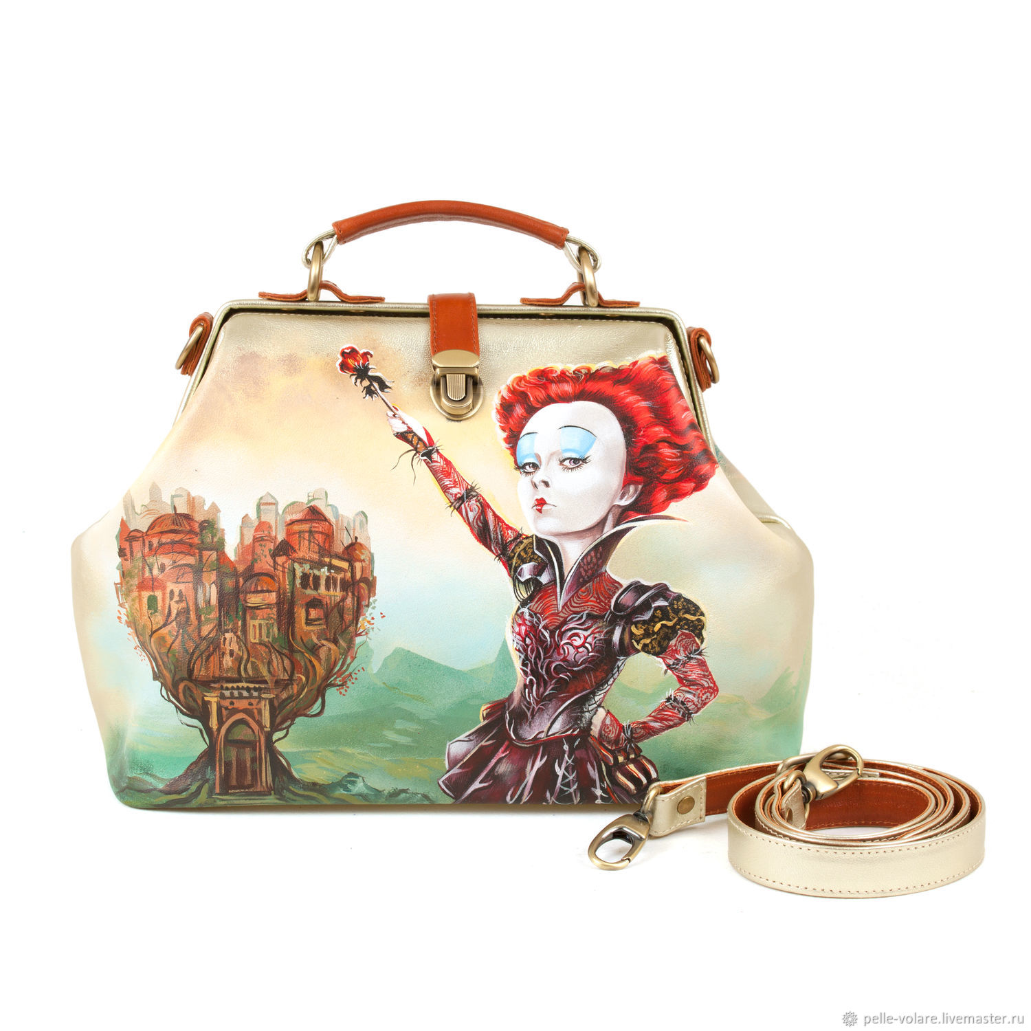 The average travelling bag 'Queen, and Cheshire', Valise, St. Petersburg,  Фото №1