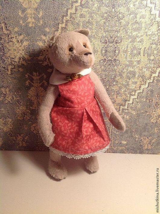 Мишки Тедди ручной работы. Ярмарка Мастеров - ручная работа. Купить Мишка-кукла Ульяна. Handmade. Серый, игрушка в подарок