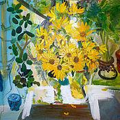 Картины и панно handmade. Livemaster - original item Big picture. Sunflowers. Handmade.