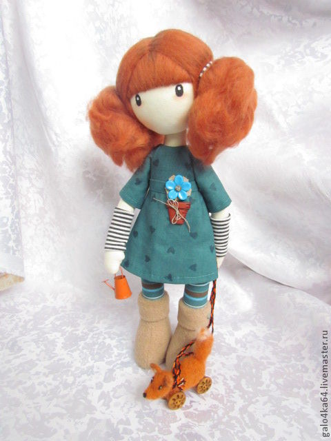 Человечки ручной работы. Ярмарка Мастеров - ручная работа. Купить Кукла СИНДИ. Handmade. Текстильная кукла, лён