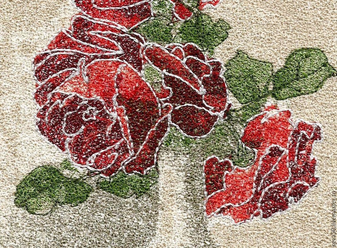 Интернет магазин вышивки розы