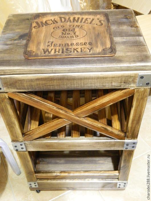 Мебель ручной работы. Ярмарка Мастеров - ручная работа. Купить этажерка в стиле лофт. Handmade. Коричневый, авторская ручная работа