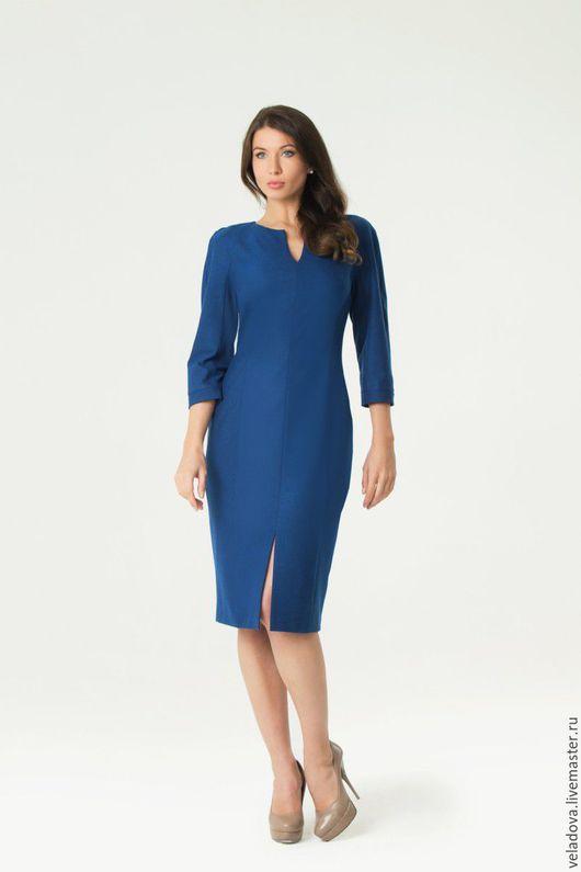 """Платья ручной работы. Ярмарка Мастеров - ручная работа. Купить Платье карандаш """"Синее"""". Handmade. Синий, Синее платье"""