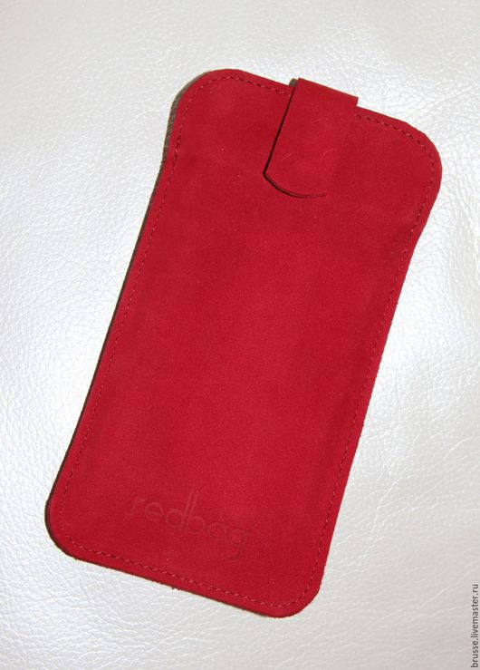 Для телефонов ручной работы. Ярмарка Мастеров - ручная работа. Купить Чехол для телефона Redbag. Handmade. Ярко-красный