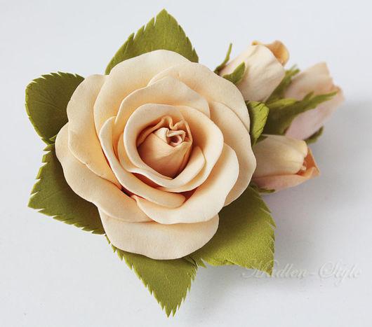 """Свадебные украшения ручной работы. Ярмарка Мастеров - ручная работа. Купить Заколка """"Розы"""". Handmade. Разноцветный, для подружек, выпускной"""
