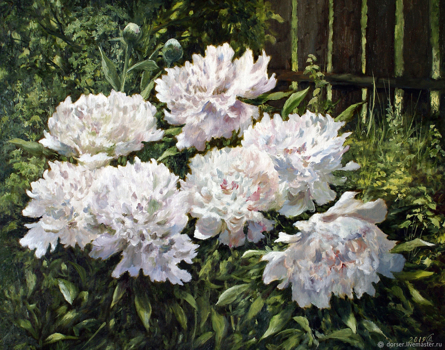 Painting - Corner of the may garden, Pictures, Moscow,  Фото №1