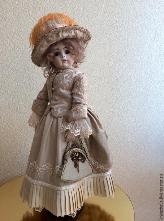 Статуэтки ручной работы. Ярмарка Мастеров - ручная работа. Купить Кукла фарфоровая Амели. Handmade. Бежевый, подарок на любой случай