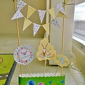 Подарки к праздникам ручной работы. Ярмарка Мастеров - ручная работа Сказочный лес. Топперы на торт. Верхушка на торт. Handmade.