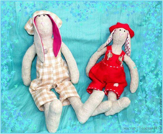Куклы Тильды ручной работы. Ярмарка Мастеров - ручная работа. Купить Заяц Тильда. Handmade. Тильда, интерьерная игрушка, синтепон