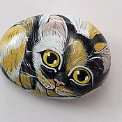 Сувениры и подарки ручной работы. Ярмарка Мастеров - ручная работа Желто-черный котёнок. Handmade.