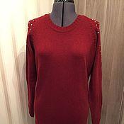 Одежда ручной работы. Ярмарка Мастеров - ручная работа Бордовое платье  стразы. Handmade.